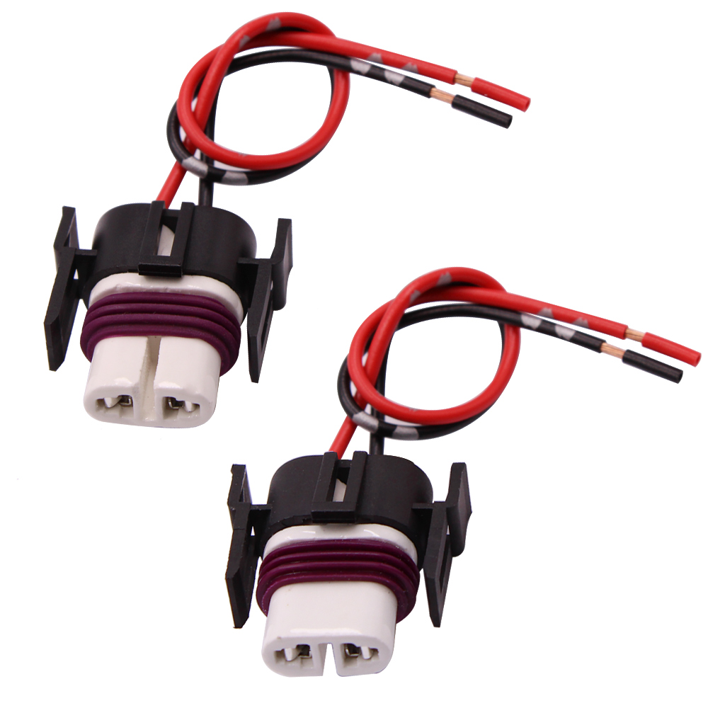 YUNPICAR H11 H8 880 881 High Temperature Ceramic Wire Harness Socket Female Adapter For Headlight Fog Light 2 Pcs