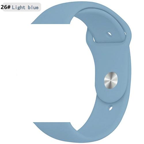 Ремешок для apple watch band 44 мм/40 мм iwatch band 5 4 42 мм 38 мм correa pulseira watch band для apple watch 5 4 3 браслет 44 мм - Цвет ремешка: Light blue 26