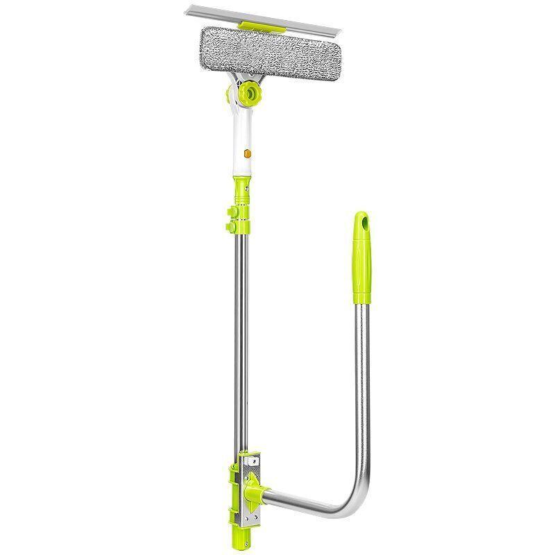 Brosse de nettoyage de vitres télescopique de grande hauteur pour le lavage des outils de nettoyage ménagers
