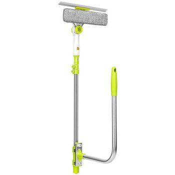 Cepillo de limpieza de cristales telescópico de gran altura para limpiar ventanas, cepillo para limpieza de hogar