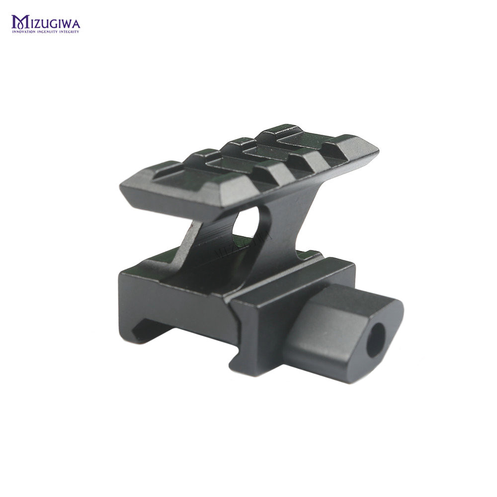 Tactical QD Lockdown Series Lightweight Riser Mount 3 Slot With 20mm Picatinny Rail Weaver Adapter Base Scope Airgun Pistol