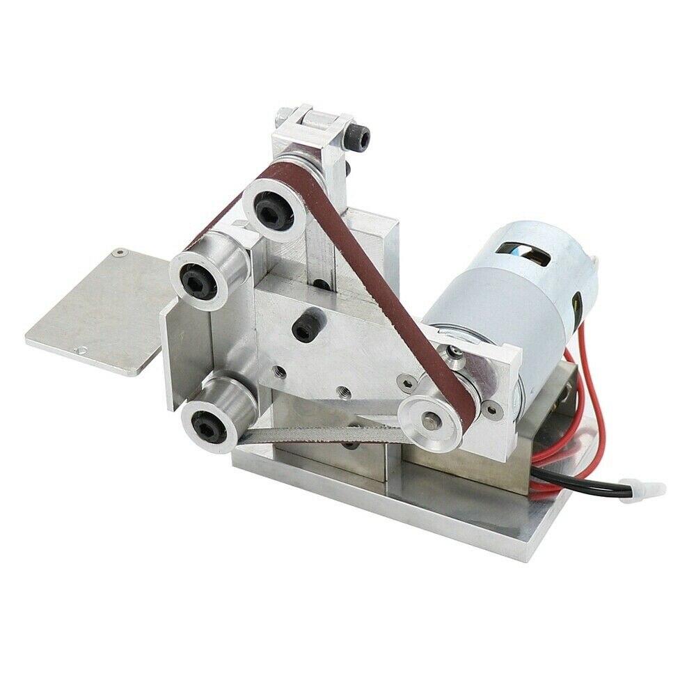 New Mini Belt Polishing Grinding Machine Polisher Belt Sander Set Kit DC12-24V
