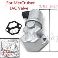 Válvula de controle de ar ocioso de boa qualidade & gaxeta mercruiser v6 v8 mpi 18-7701 862998 do motor de iac