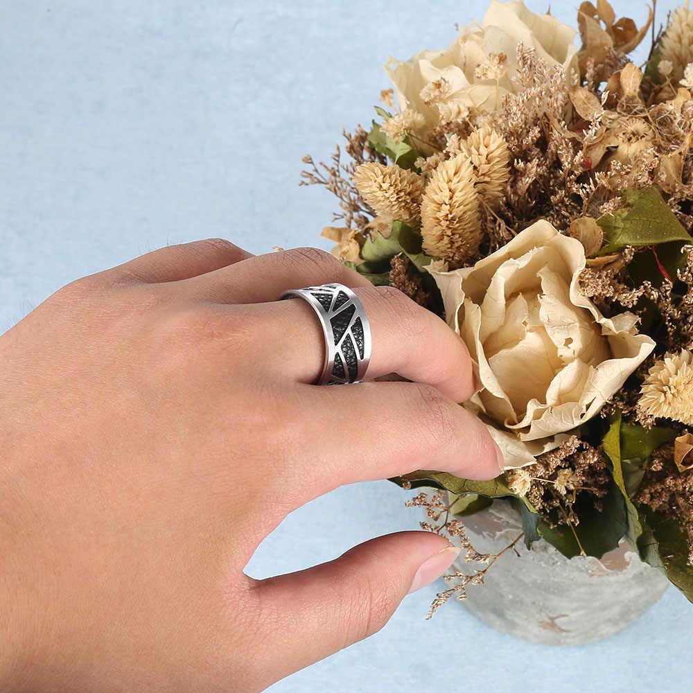 Cremo ใหม่แหวนสแตนเลสสำหรับผู้หญิง Bijoux Homme สไตล์แหวนเงินหนังเปลี่ยนได้ Bagues Pour Femme
