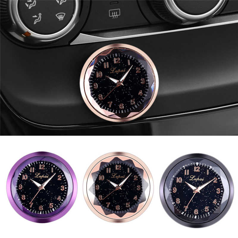 1PC Car Accessories Car Decoration Electronic Meter Car Clock Timepiece Auto Car Interior Ornament Car Sticker Watch Car Styling