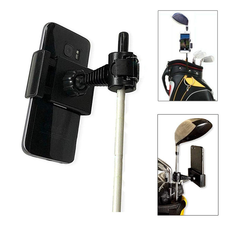 Universal Selfie Golf Club Practice Records Accessories Phone Holder Golf Training Assistant Tool Golf Record Holder Stand