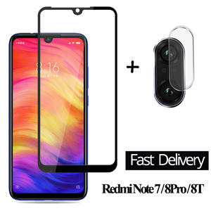 Glass Redmi Screen-Protector 2-In-1-Camera Note-7 Xiaomi 8T