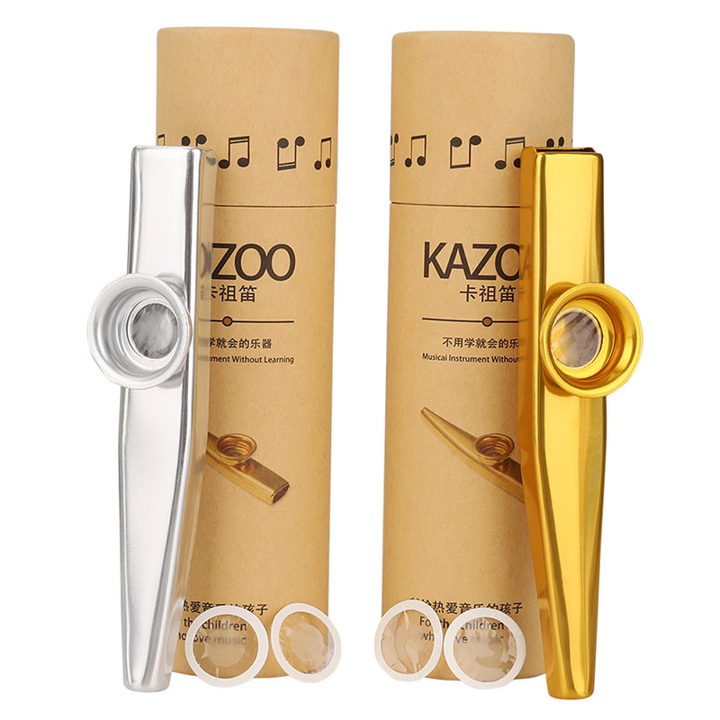 Metal Kazoo Lightweight Portable For Beginner Flute Instrument Music Lovers Woodwind Instrument Simple Design Lightweight
