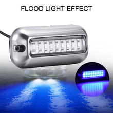 27 led barco de aço inoxidável transom luz subaquática pontão acessórios do barco do navio marinho luz à prova dwaterproof água