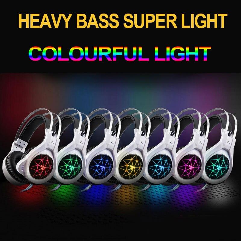 Купить с кэшбэком NUOXI Computer Gaming Headset Deep Bass Stereo Computer Game Headphones with microphone LED Light PC Professional Gamer