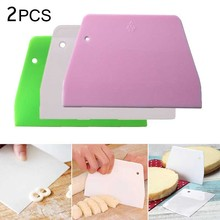 2PCS Dough Scrapers Cream Smooth Cake Spatula Baking Scraper Multipurpose Kitchen Scrapers for Pizza Dough Pastry Cake cheap Pastry Cutters Eco-Friendly DSC10016 Silicone Rubber Baking Pastry Tools CE EU LFGB Dough Scraper Kitchen Butter Knife