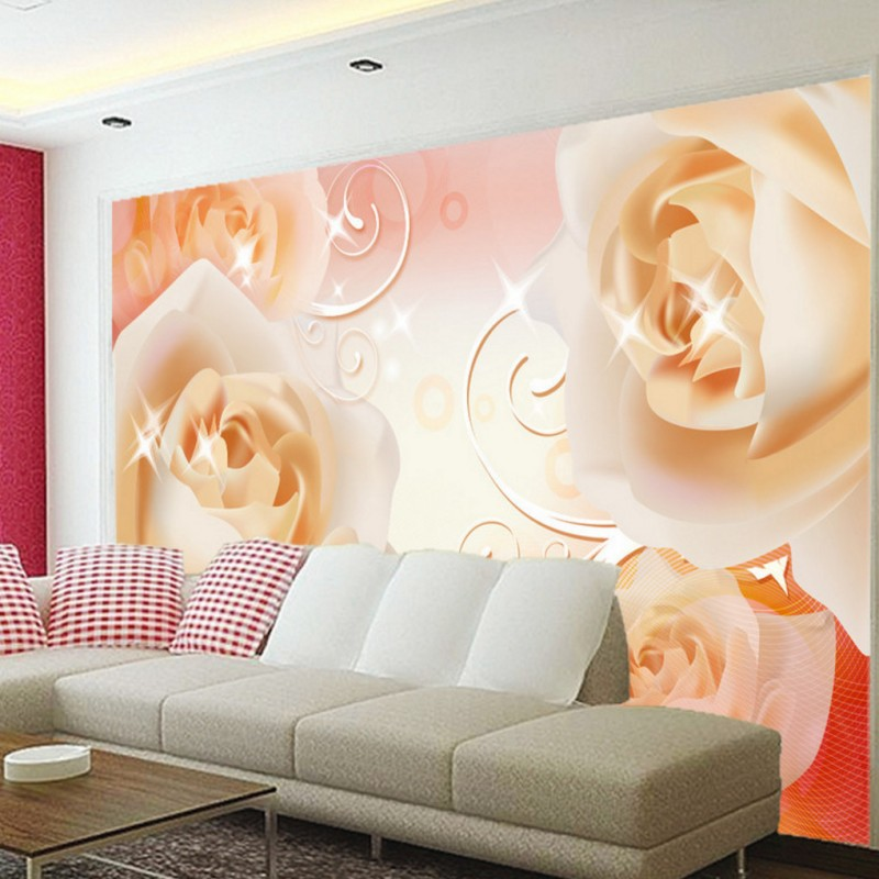 Dropship Photo Wallpaper Dream 3D Rose Living Room TV Wall Wallpaper Custom Lobby Studio Office High Quality Stereo Mural