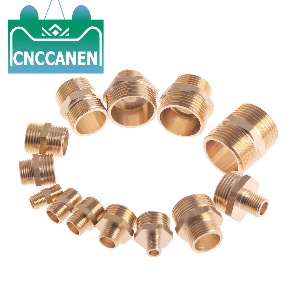 Brass Pipe Hex Nipple Fitting Coupler Connector Quick Adapter 1/8