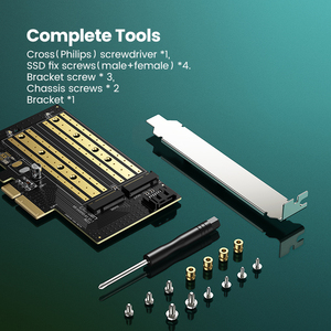 Image 5 - Адаптер Ugreen PCIE для M2 NVMe M.2 PCI Express адаптер 32 Гбит/с PCI E карта x4/8/16 M & B Ключ SSD компьютерное расширение добавить на карты