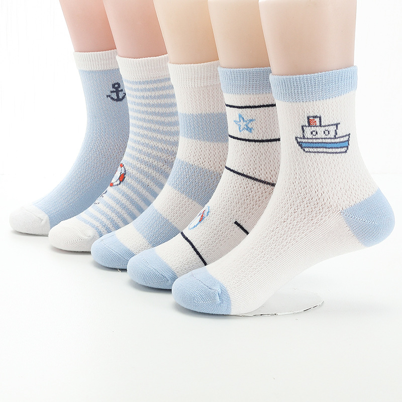 1 Pair Color Random Baby Boys Girls Socks Toddler Cotton Blend Socks Cartoon Socks