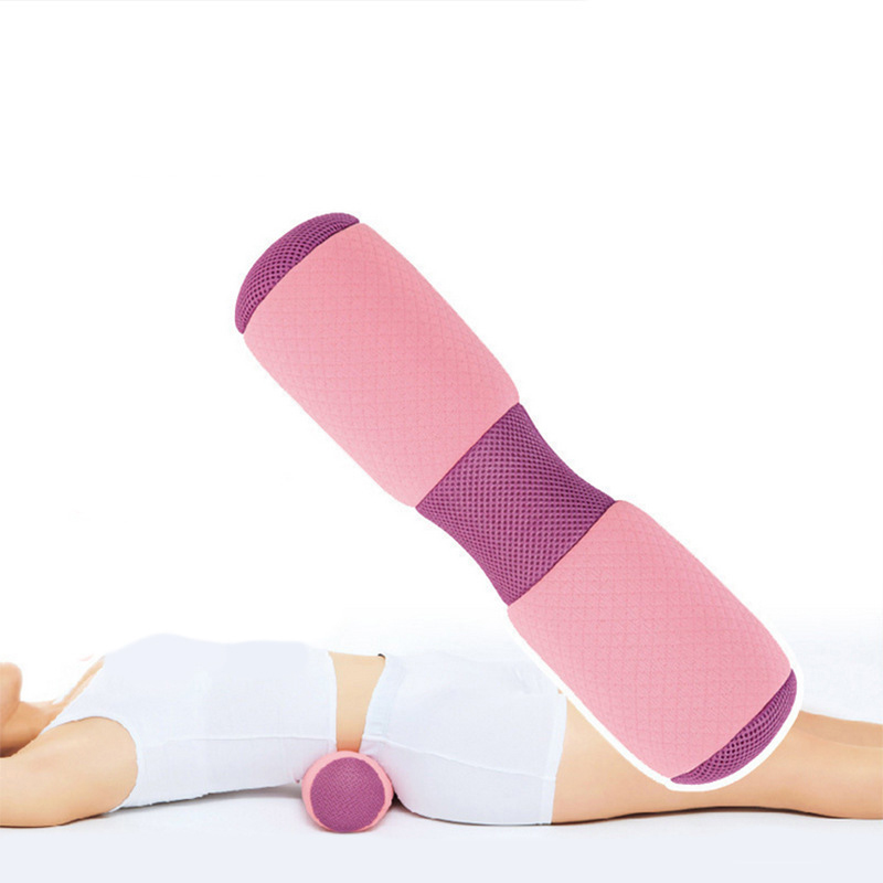 Multifunctional Yoga Waist Neck Back Pillow Yoga Block Roller Rebound Breathable Cloth Memory Foam Pillow Cervical Vertebrae Wai