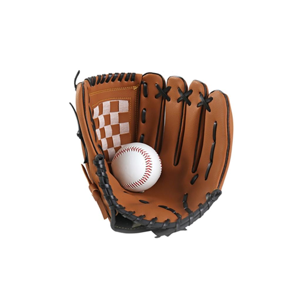 1pc Men Women Training Baseball Glove Left Hand Soft Cushioned Softball Mitts Sports Impact Reduce Outdoor Practice Comfortable
