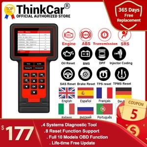 Image 1 - Thinkcar TS609 OBD2 סורק מנוע ABS SRS שידור אבחון כלי ThinkScan 609 קוד קורא סורק עם 8 איפוס פונקציה