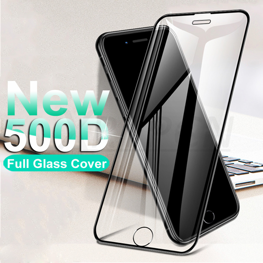 500D Curved Protective Glass For iphone SE 2020 6 6S 7 8 Plus Tempered Glass Film on iPhone X XR 11
