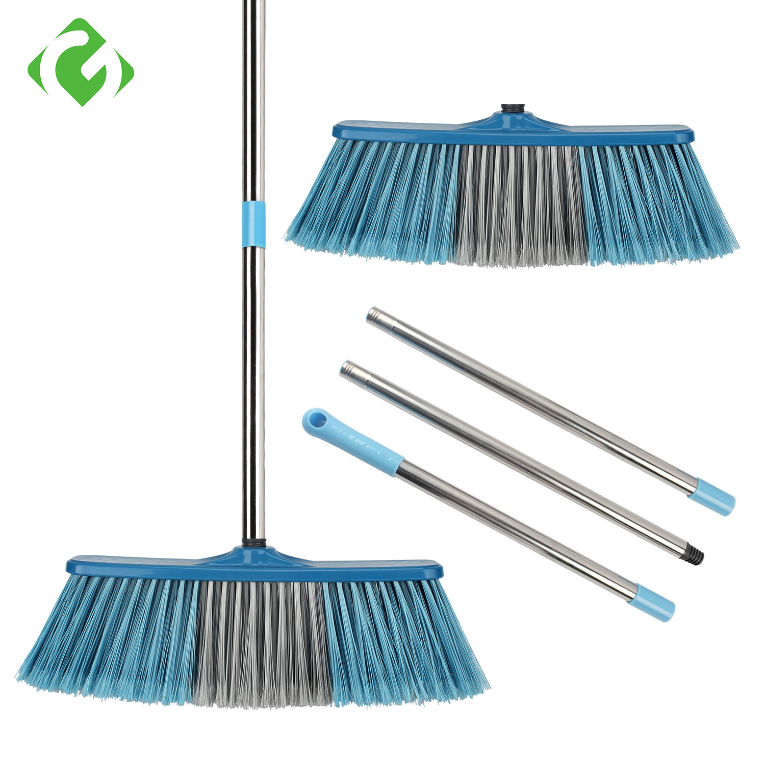 Big Floor Cleaning Broom Adjustable Long Handle Stiff Bristle Grout Brooms Scrubber for Cleaning Outdoor Courtyard Warehouse