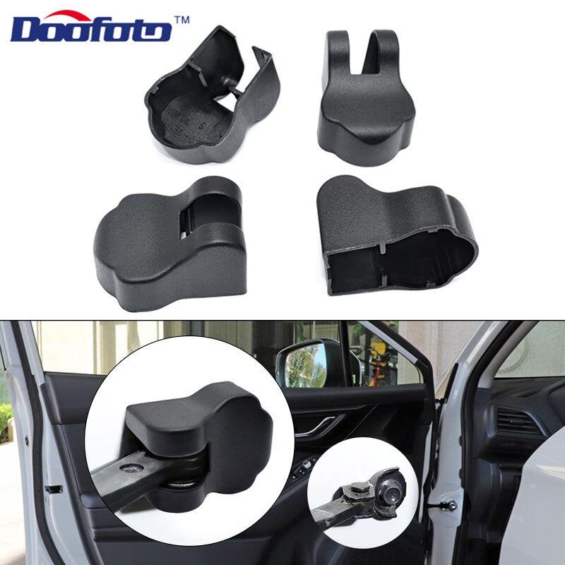 Doofoto 4x Car Door Limiting Stopper Cover For Subaru Forester Impreza Legacy Outback XV STI 2004 2014 2018 2019 Car Accessories