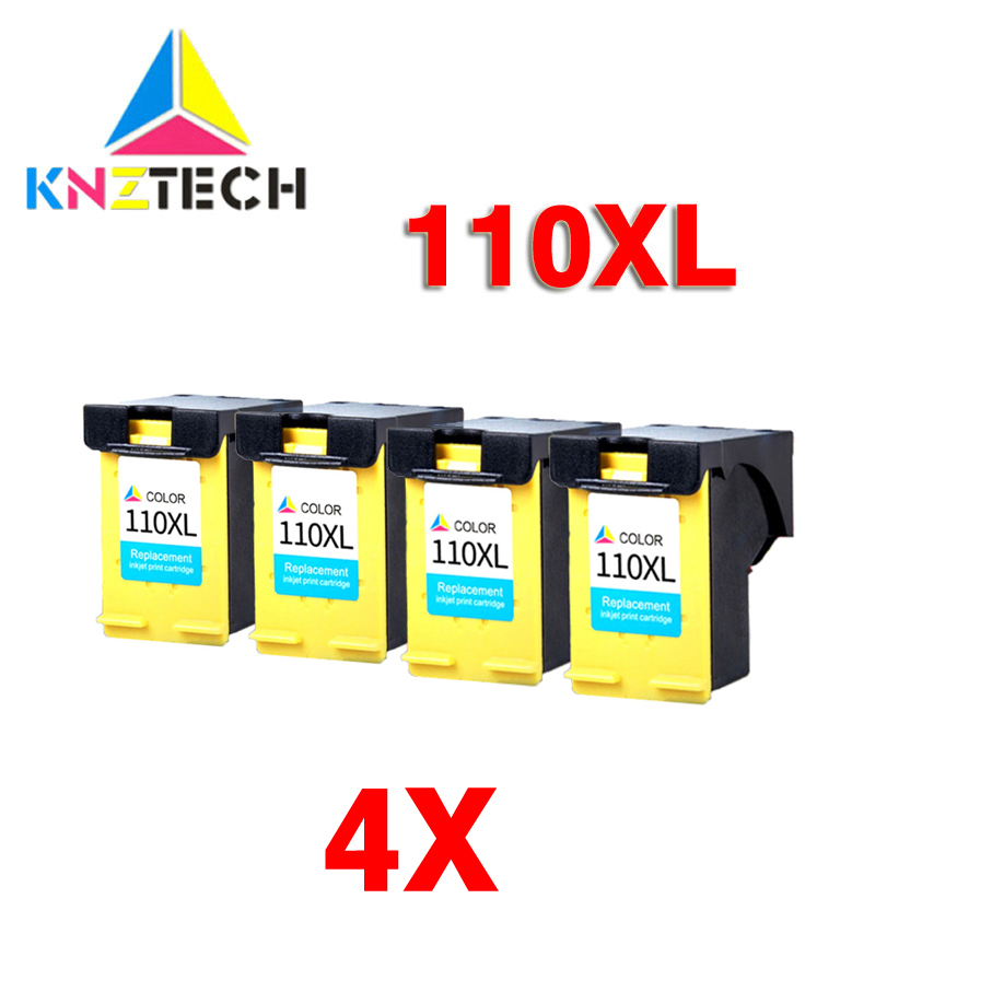 4x compatible Ink Cartridges compatible for 110 XL <font><b>HP110</b></font> HP110XL Photosmart A433 A618 A432 A314 A516 A612 A717 A320 A436 A440 image