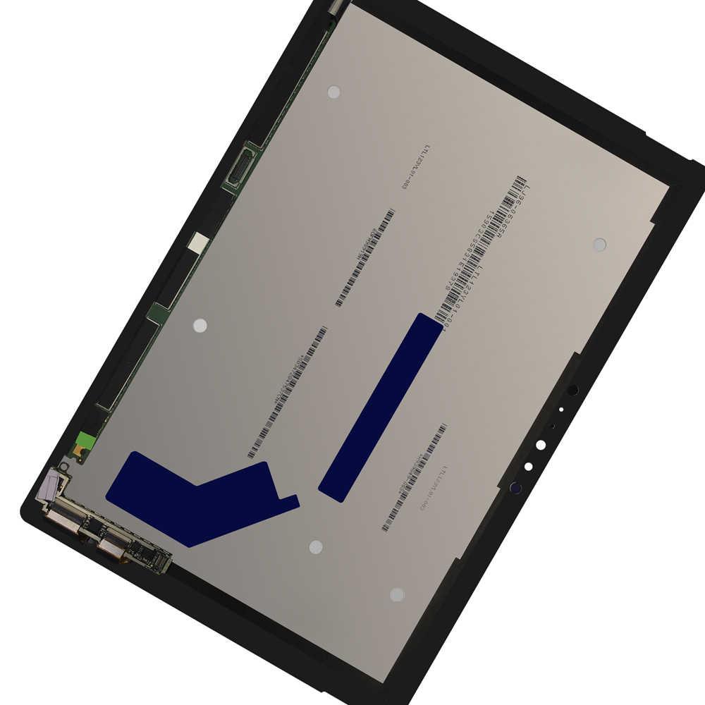 LCD ل مايكروسوفت السطح برو 4 1724 عرض مجموعة المحولات الرقمية لشاشة تعمل بلمس استبدال شحن مجاني