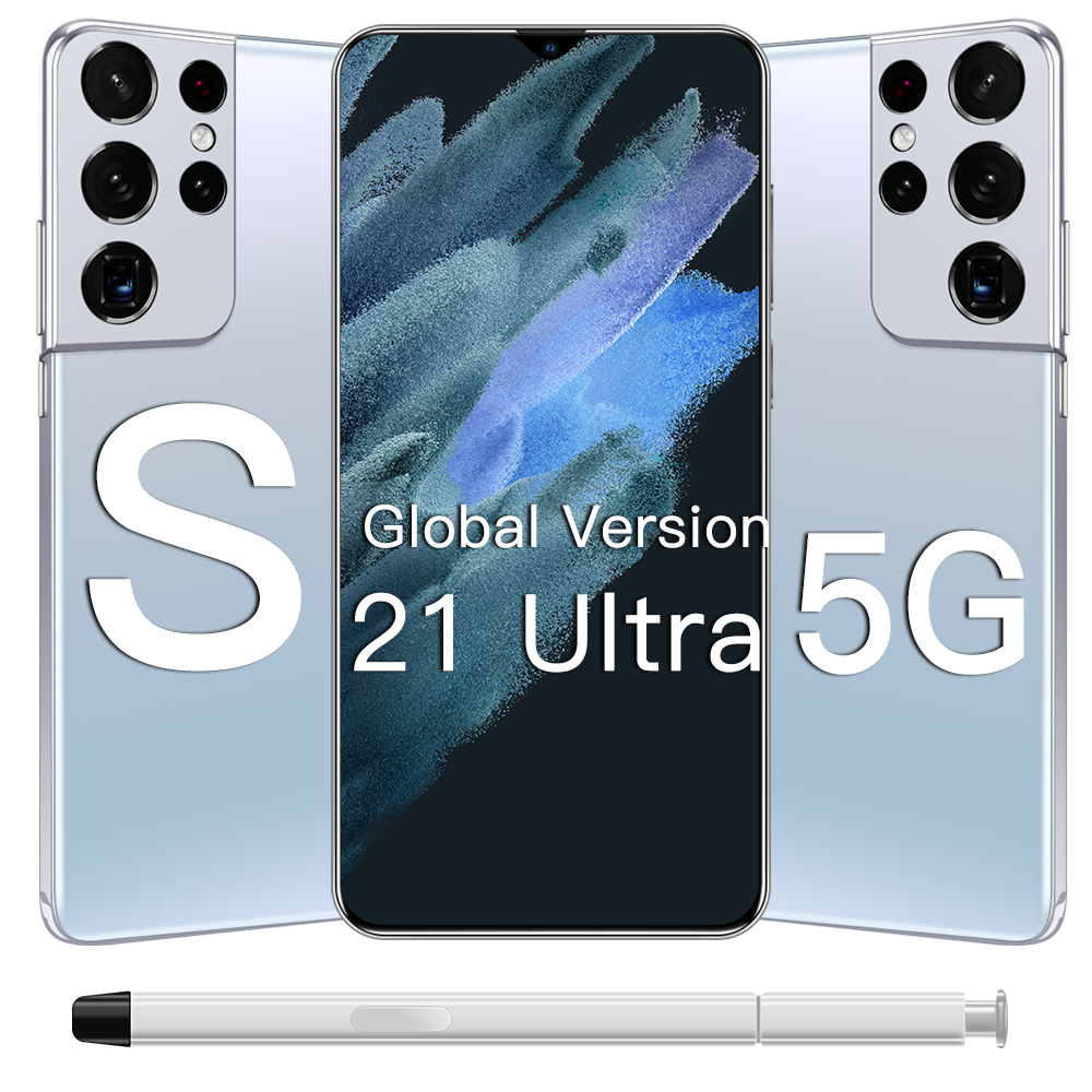 Galay S21 Ultra Smartphone Mobile Phone 5G 16GB 512GB 6.7Inch Android10 Global Version 6800mAh Full Screen Deca Core LTE Network