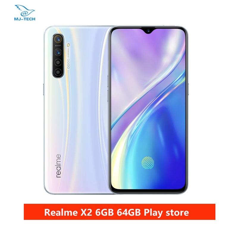 Realme X2 6G 64G Snapdragon 730G 64MP Kamera 6.4 Full Screen NFC OPPO Handy VOOC 30W Schnelle Ladegerät Moblie Telefon
