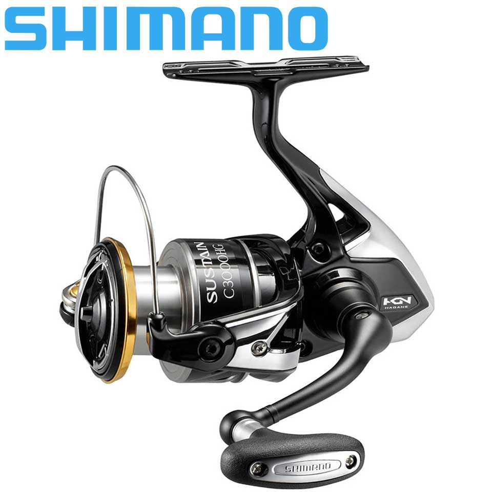 Original SHIMANO SUSTAIN Spinning reel 2500/<font><b>C3000HG</b></font>/4000XG Max 11KG Power 5.0:1/6.0:1 HAGANE GEAR Sea water/ freshwater fishing image