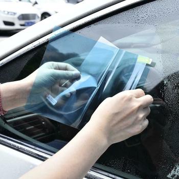 Wyświetlacz tyłu samochodu szkło lustrzane Film wodoodporna przeciwmgielna przeciwdeszczowa osłona przeciwdeszczowa boczna szyba filmowa Антидождь Для авт tanie i dobre opinie 10 -20 CN (pochodzenie) 80 -100 10cm 20cm Anti-oil Nano coating Boczne Szyby Folie okienne Anti-fog anti-glare anti-mist waterproof rainproof