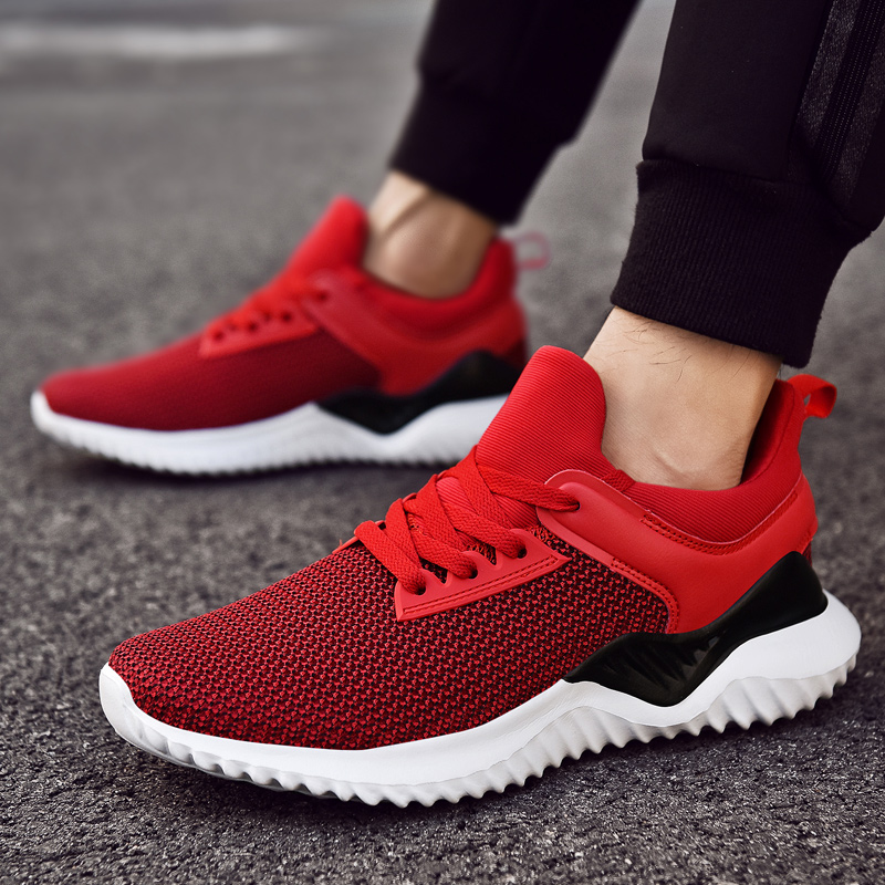 Goodstus casual shoes men's new fashion fly woven sneakers summer fashion lace up pointy running men's shoes title=