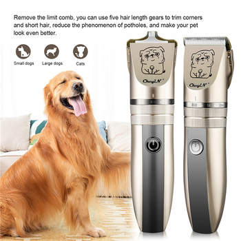 2in1 Rechargeable Low Noise Pet Dog Hair Trimmer Electric Animal Cat Hair Grooming Clippers Remover Cutter Machine Ceramic Blade professional dog hair clippers grooming kit low noise rechargeable cordless dog cat pet electric hair clipper​ trimmer 100v 240v