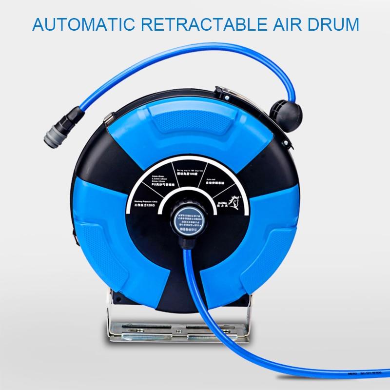 Pneumatic Retractable Air Compressor PU Hose Reel Outdoor Portable ...