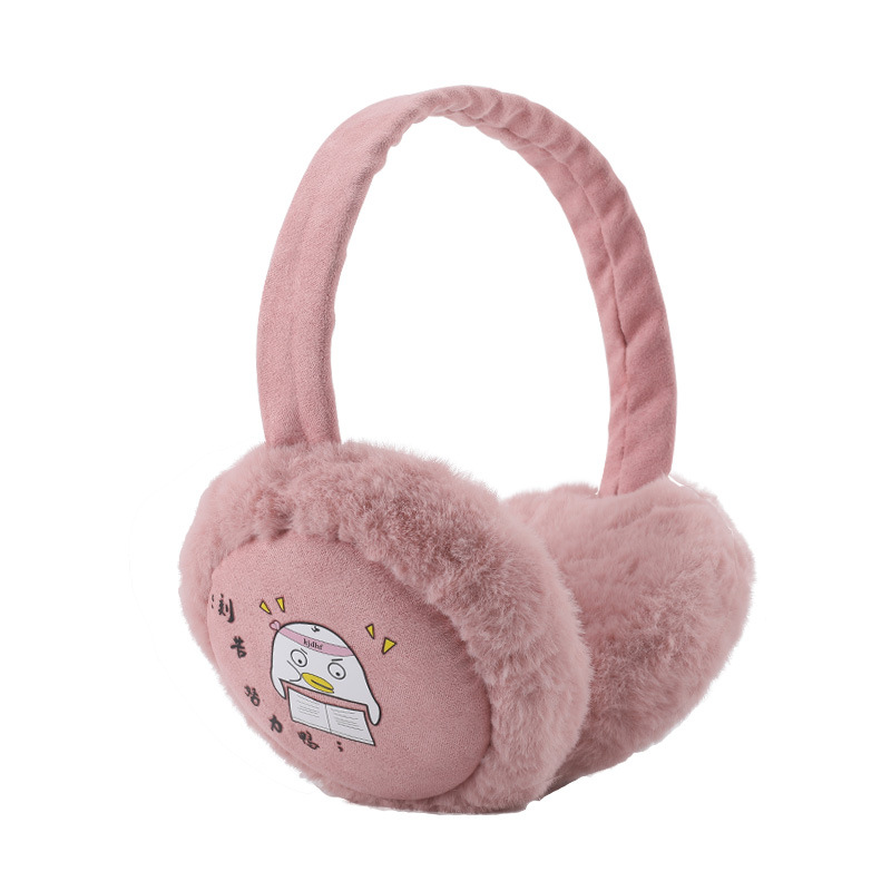 Winter Thermal Fur Earmuffs Lady Folding Plus Fleece Ear Muff Cute Cartoon Kids Earmuffs Headbands Protect Ears Plush Ear Warmer