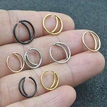 Модные блестящие двойной круглый нос кольца для мужчин и женщин