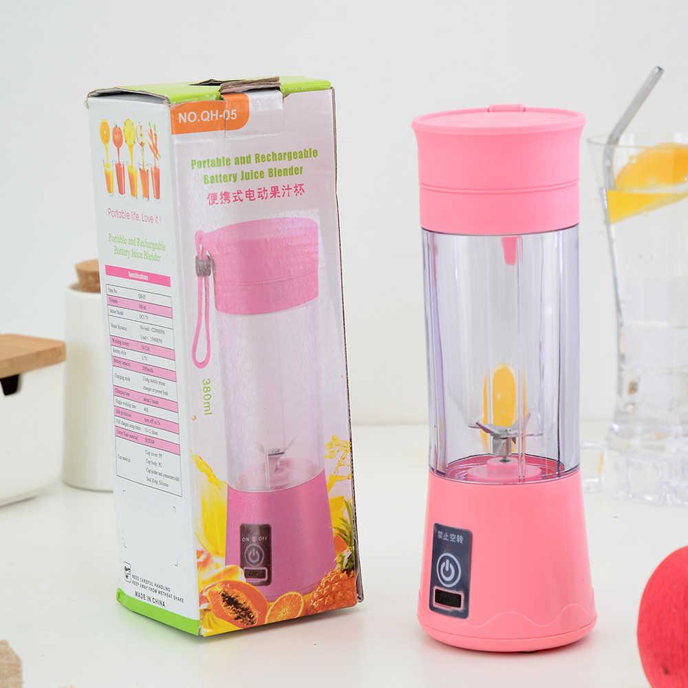 Портативный блендер для сока, USB, соковыжималка, чашка, многофункциональный фруктовый Миксер с шестью лезвиями, миксер, персональный блендер, чашка, блендеры для сока