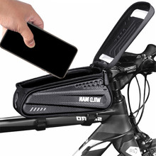 Bicycle Beam Bag Touchscreen Waterproof Front Cell Phone for Electric Scooter Bike Folding MTB Accessories
