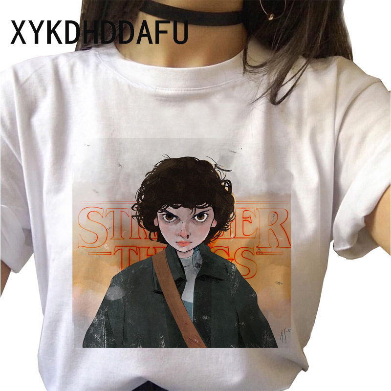 H53d620f8fea14e588b82282b55844e14U - Stranger Things T Shirt Women Harajuku Eleven Aesthetic Streetwear Clothes Vintage Tshirt Female New Summer T-shirt Top Tee