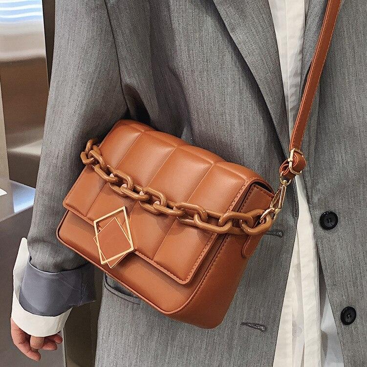 Новинка 2021, женская сумка через плечо, модная Популярная женская сумка через плечо, Высококачественная кожаная сумка, винтажные сумки на це...