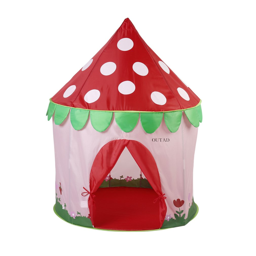 OUTAD Portable Safe Soft Foldable Ventilated Funny Game Play Tents Intelligence Toys Kids Mushroom Princess Castle Tents