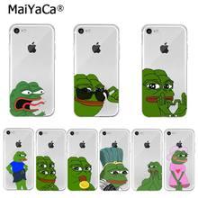 Sapo triste pepe meme transparente capa para iphone 12 11 pro xs max xr 8 7 6s plus x 5 5S se