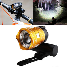 T6 LED Bicycle Bike Lights Bike Front Lamp Torch Zoomable Bike Headlight Flashlight Aluminum Alloy Bike Light USB Rechargeable cheap Aubtec Rear Light Frame Battery Quality Bike Light 65*43mm Black gold 170g Support 2019