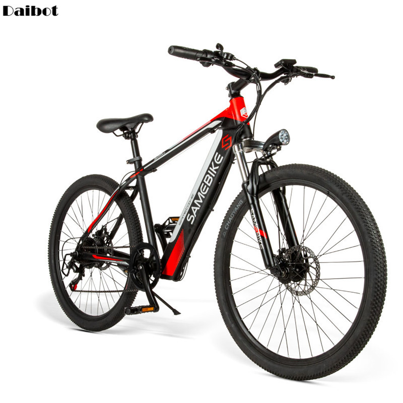 26'' Powerful Electric Bicycle 2 Wheels Electric Bicycles 36V SAMEBIKE SH26 Mountain Smart Electric Bikes Adults Max Range 70KM