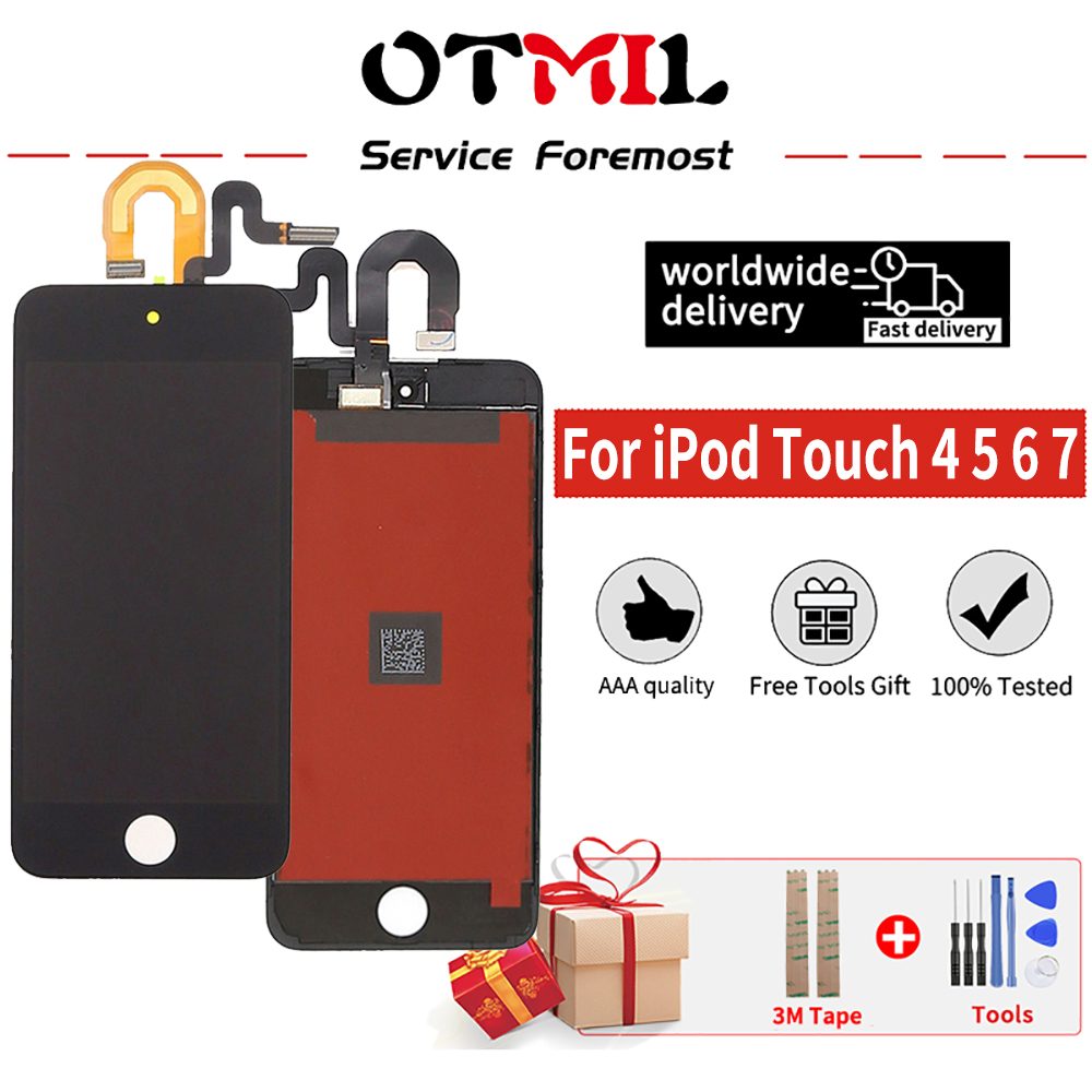 "4.0"" LCD For iPod Touch 5 6 7 LCD Display Touch Screen Digitizer Assembly free tools for iPod Touch 5 6 7 Display(China)"