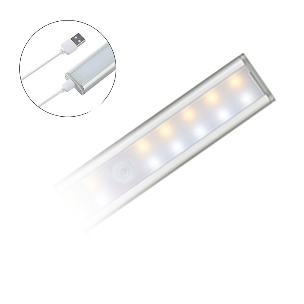 USB Rechargeable Removable Battery Powered Cabinet Light Auto Motion Sensor Stick-on 20LED Wardrobe Cupboards For Home Closet