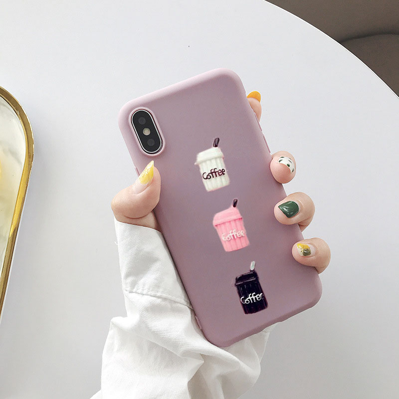 For <font><b>OPPO</b></font> F9 F7 <font><b>A3S</b></font> A5S RX17 Neo F11 R17 Pro Reno A59 F1S F3 Plus F5 A83 A71 A71K 3D Cute Coffee Cup Soft TPU Mobile <font><b>Phone</b></font> Cover image