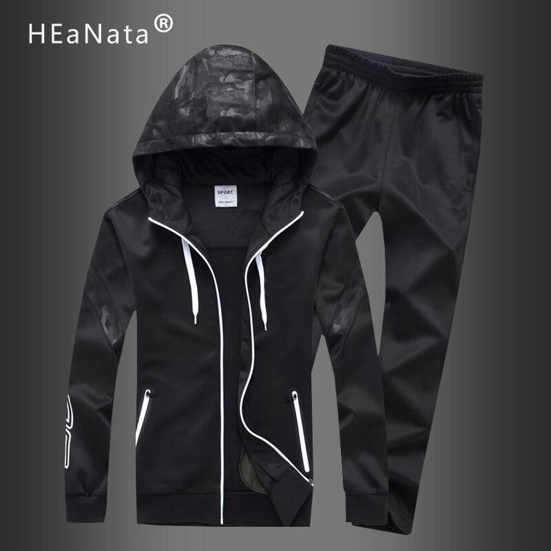 New 2020 Autumn Spring  Men's Sweatsuit Sets 2 Piece Zipper Jacket Track Suit Pants Casual Tracksuit Men Sportswear Set Clothes