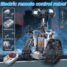 Steam 408pcs City Creative Rc Robot Electric Building Blocks Technic Remote Control Intelligent Robot Bricks Toys For Children(China)