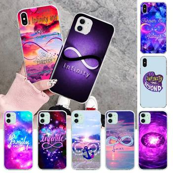 HPCHCJHM infinity on purple love Soft Silicone TPU Phone Cover for iPhone 11 pro XS MAX 8 7 6 6S Plus X 5S SE 2020 XR cover image